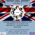 pro am tennis in aid of sussex cancer fund