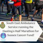 South East Coast Ambulance Service running in Hastings Half Marathon!